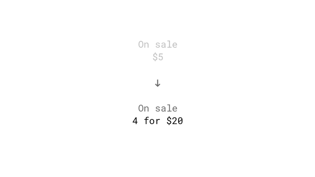 Цены на несколько единиц