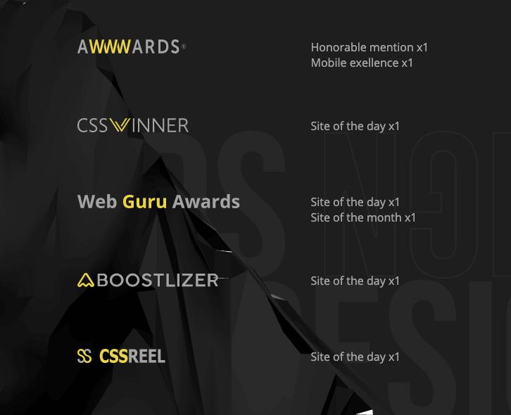 Награды сайта EvoxLab